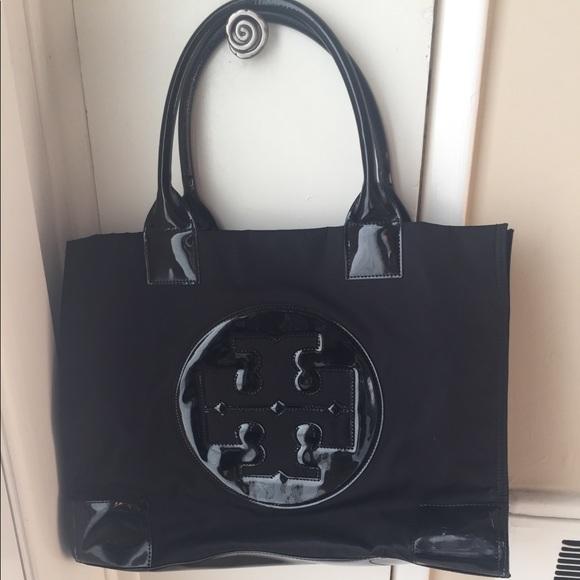 cf4c2b1ce8 Tory Burch Ella tote black. Nylon/ patent. M_5aac4041f9e5012f1a2a7672